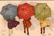 Umbrellas / art including umbrellas
