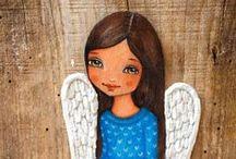 Cute and beautiful angels / angel art