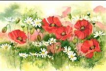 Wild flowers art / art