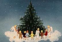 Dancing around the christmas tree- art