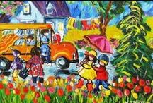 Katerina Mertikas - naive impressionist / folk art