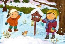 Winter (liedjes, versjes, boeken)
