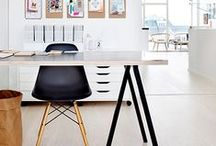 working in style / Office space for the lover of anything other than a boring gray cubicle. Make your work space your own.