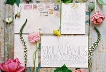 Boho Wedding Stationary / Bohemian wedding stationary inspiration and ideas.
