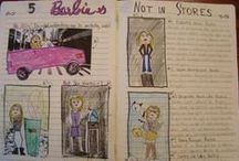 """Creative Students' Writers Notebook Pages / I'm going to start keeping images of unique things my students do during their ten minutes of """"Sacred Writing Time"""" every day in my class. If you show kids other creative kids' work, I find the level of classroom creativity rises!"""