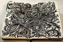 Moleskine & sketchbook by Masonry / Massoneria Creativa / Illustrations on Moleskines and sketchbooks