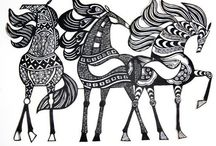The modern horse  / I just discovered Zentangle the other day and I'm a huge fan already!