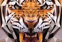 Low Poly/Triangles / I really love low poly and low poly-esque art. As well as geometric-inspired stuff.