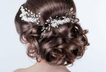 Hella good hair for brides :) / Bridal hair styling