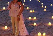 Romantic wedding setup / inspiration