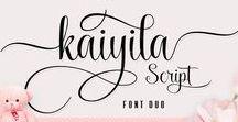 Otf & Ttf Font / Hand Lettering, Designer & Typography