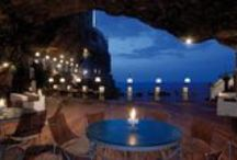 Grotta Palazzese - Polignano A Mare  / The hotel occupies a striking clifftop setting amongst the winding alleys and white houses of the old town of Polignano a Mare in Puglia