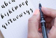 Handlettering / Ideen fürs Letteribg und Kalligrafie