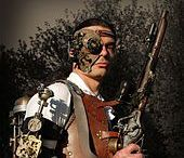 Steampunk / Steampunk is a sub-genre of science fiction that typically features steam-powered machinery.