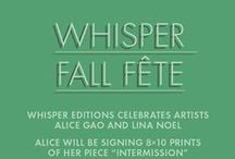 Whisper Editions Fall Fete / You're invited to a Whisper Editions Special Event on October 7th.