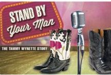 """""""Stand by Your Man"""" - 2015 Season - March 18th - April 5th, 2015 / Stand by Your Man explores the woman behind the legend and the incredible songs that made her the first lady of country music. The audience relives her journey from the cotton fields of Itawamba, Mississippi, to international superstar.  Stand by Your Man recounts triumphs and tragedies of Tammy's relationships with the five husbands she stood by, her beloved daughters, her strong-willed mother and two of her dearest friends: writer and producer Billy Sherrill and film star Burt Reynolds."""