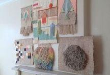 Woven Wall Hangings / Beautiful Weaving Examples | Fiber Art | Textiles | Texture, Color, Inspiration