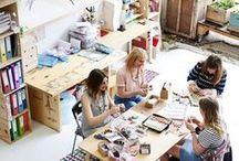 Studio Space / Studio Design | Inspiration | Studio Setup | Organization | Ideas | Spaces