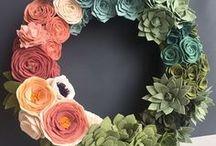 Felt Flowers / Felt Flowers | Felt Plants | Tutorials | Ideas | Felt Wreaths | Felt Garlands | Felt Bouquets | Felt Centrepieces | Design | Inspiration | Art + Craft | Colour | Technique | DIY