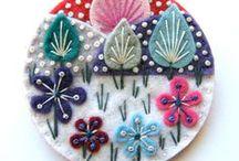Wool Applique & Felt Embroidery / Wool Applique | Felt Embroidery | Wool Folk Art | Design | Inspiration | Patterns