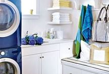 Laundry room / Beautiful and functional design inspiration for the laundry room or laundry closet.