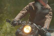 Leather & motor