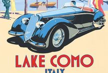 Classic Travel & Racing Poster