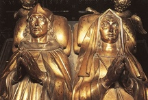 Henry VII & Elizabeth of York / A board dedicated to the founders of the Tudor dynasty, King Henry VII (reigned 1485-1509) and Elizabeth of York (reigned 1486-1503).