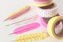Basteln mit Washi Tape / Basteln mit masking oder washi tape - tolle Ideen! Kreativer Einsatz für die Klebebänder in allen Farben. Masking Tapes mit schönen Mustern und Motiven. Masking Tape Craft, Decoration & Activity Ideas - washi tape with stripes, dots, chevron designs and all colors - we love them! Ideas, Crafts Washi Tape, DIY Washi Tape, selber machen