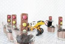 DIY Baustellen-Party Ideen / Dekoration, Spiele & Bastelideen für eine Baustellenparty /  Construction or Truck Party Craft & Activity Ideas