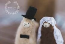 Wedding Cake Toppers / needle felting Cake topper ( llamas alpacas and more )