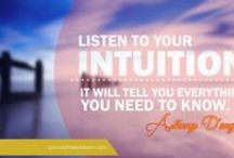 Intuition / Listen to the voice inside, you are being guided #Intuition #Spiritual #getinsync #gutfeeling #knowledge