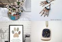 Surprising Treasuries / All the lovely things form Etsy selers sorted by topics. Take a look and find your Treasure! Enjoy!
