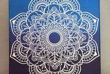 Mandala canvases