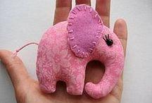 16-)  Kumaş Oyuncak & Süs Eşyaları ( Hobby fabric- Toys & Ornaments )