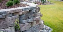 Retaining Walls - Outcropping / The larger dimensions of the Rosetta Outcropping blocks allow you to create grand, structural walls in a scale that is both believable and inspiring.