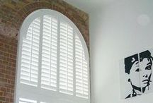 Special Shapes Shutters / Our custom-made special shapes shutters are and designed to fit perfectly any window shape shape and can be a practical and stylish solution to the most difficult windows.  There is a vast variety of shapes to choose from but this option is dependent on the material you choose as well as on your window shape.