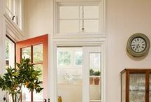 HOME. Kitchen Doors. / Sliding Pocket Doors with Dutch, Parisian and Victorian styled panels and glass.