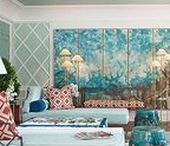 Interiors : Turquoise & Brown