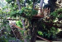 Play paradise / natural jungle-gym, tree-house, play-garden for the small ones and the big ones. Gardening, constructing, balancing, orchestrating, entertaining, working out and imagining, and perfect little nooks for reading and weaving