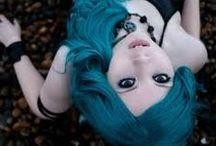 cabelos / cabelos coloridos e cortes