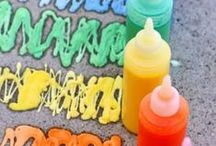 Paint + Play Dough Recipes / Recipes for paint, play dough, crayons, chalk, and more.