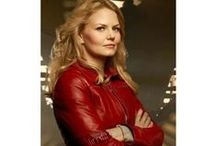 Once Upon a Time Emma Swan Red Jacket / Buy Jennifer Morrison Once Upon a Time Emma Swan Motorcycle Red Leather Jacket at affordable price with free shipment to USA, UK and Canada