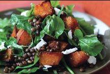 salad potato / meat