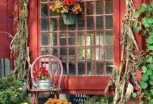 Garten: Herbst im Pavillon / Färben sich die Blätter bunter, ziehen wir uns gern in den warmen Pavillon zurück und umgeben uns dort mit stimmungsvollen Accessoires, gemütlichen Kissen und herbstlichen Blumensträußen.