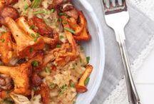 Gastlichkeit: Pilze / Aufläufe, Risotto, Geschnetzeltes ... im Herbst verfeinert das feine Pilzaroma unsere Lieblingsspeisen