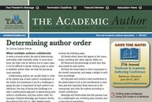 Academic Author Covers / A look at our monthly newsletter covers and featured content.