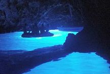 Blue Caves of Bisevo / One of the most beautiful natural sights to see in Croatia is the Blue Cave on the island of Bisevo, as the water literally glows blue in the dark interior. The entrance is small and the only way in is by boat, so hold on as you head into the darkness and then into the light!