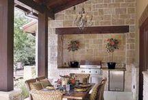 venkovní kuchyně / bydlení na zahradě