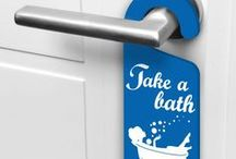 Cartelli per maniglie / Originali cartellini per decorare le vostre porte con stile.
